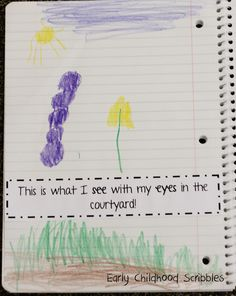 Early Childhood Scribbles: Our Five Senses and journaling!!