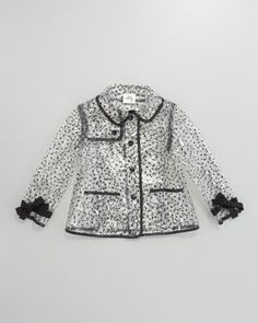 Polka Dot Clear Raincoat by Milly Minis at Neiman Marcus.