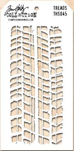Tim Holtz Stencil THS045 Treads