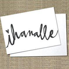 """Kortti """"Ihanalle"""""""