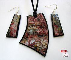 Hidden Flowers Polymer Clay Jewelry Tutorial - Love this $6