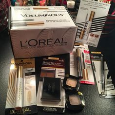 I recieved these products from @influenster and @lorealparisus to test out for free and give my own opinion and review it. Love this voluminous mascara for years from loreal and can't wait to try more of their products. #LorealMakeup #Contest