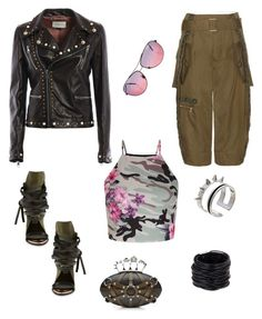 Military girl by aakiegera on Polyvore featuring polyvore, fashion, style, New Look, Gucci, Marc Jacobs, Ivy Kirzhner, Alexander McQueen, Saachi, Maria Francesca Pepe, Ray-Ban and clothing