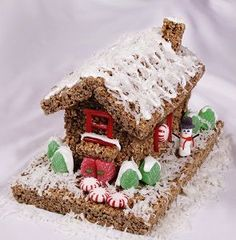 Holiday Candy Cottage Christmas Treats, Christmas Holidays, Xmas, Christmas Candy, Christmas Recipes, Holiday Recipes, Holiday Ideas, Rice Krispie Treats, Rice Krispies