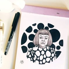 #inktober Day 28: Yayoi Kusama  She is a Japanese avant-garde artist and writer. She suffered from mental illness as a child and used her hallucinations and personal obsessions to fuel her artmaking as a survival mechanism. Throughout her career she has worked in a wide variety of media with a thematic interest in psychedelic colors repetition and pattern. A precursor of the pop art minimalist and feminist art movements Kusama inspired her contemporaries such as Andy Warhol Yoko Ono and… Psychedelic Colors, Avant Garde Artists, Yoko Ono, Damien Hirst, Yayoi Kusama, Feminist Art, Wonder Women, Women In History, Andy Warhol