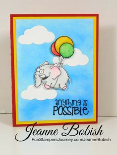 Anything is Possible card using Fun Stampers Journey products