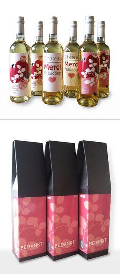 Wijnverpakking + etiketten  www.madebymarye.com