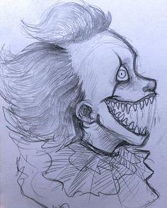 Pennywise by marrykitts Pennywise by marrykitts - - halloween drawings Scary Drawings, Dark Art Drawings, Pencil Art Drawings, Art Drawings Sketches, Cute Drawings, Creepy Sketches, Scary Halloween Drawings, Drawing Art, Horror Drawing