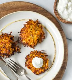 Sweet Potato, Turnip and Parsnip Latkes.