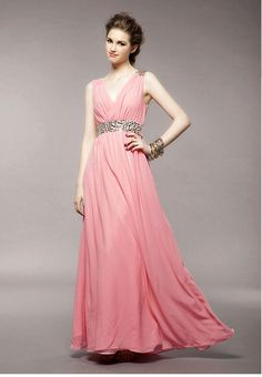 Chiffon Dresses With Sparkling Accents