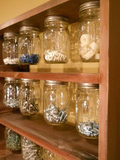 Mason Ball Jar Organizer