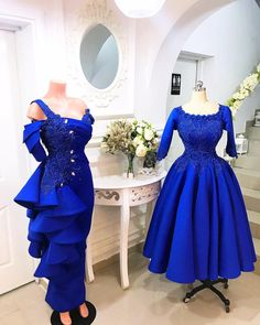Scuba and lace dress styles African Bridesmaid Dresses, African Lace Dresses, Latest African Fashion Dresses, African Print Fashion, Elegant Dresses, Pretty Dresses, Blue Dresses, Lace Gown Styles, African Attire