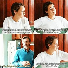 This scene was on the book, and hazel was talking to her mom on the couch while they where watching America's Next Top Model.