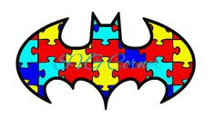 Batman Autism Awareness Puzzle Logo SVG File by SvgCorner on Etsy