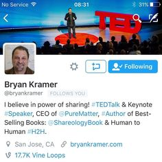 So excited today as one of the social media dons and author of an amazing book Shareology @bryankramer1  started following our Twitter account. Amazing that he found us and goes to show that everything in his book is true. Check him out!  #socialmediamarketing #contentmarketing #socialmediatips #marketing #brand #dream #inspiration #motivate #entrepreneur #hardwork #hustle #goals #inspire #grind #success #business #startup #socialmedia #digital #positivity #win #instagood #instafollow #work…