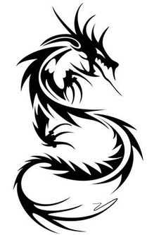 tribal Dragon Tattoo Designs for Arms | Tribal Dragon Tattoos - Cool Dragon Tattoo For Men