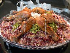 آلبالو پلو - Albaloo polo- Persian sour cherry rice
