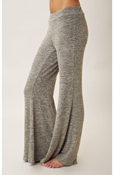 KNIT BELL BOTTOM PANTS. These look comfier than sweats or yoga pants.