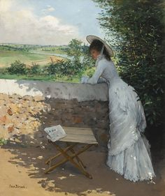 Jean Béraud (French, 1849-1935) - Un Figaro de Rêve (Oil on canvas)