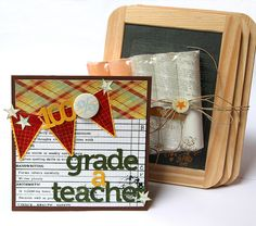 featuring the Old School collection from Pink Paislee. This would make a cute teacher's gift.