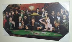 Scarface Canvas Picture Poker Gangster Mafia Sopranos Wall Art Ready To Hang NEW