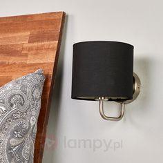 Materiałowa lampa ścienna Enna z żarówką LED E14 9970092