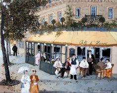 Spring in Paris ….. Fabienne and Michel Delacroix. | artpaintings2014