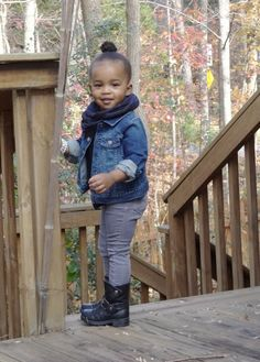 Baby Shopaholic: Weekend Style: Top Knot & Moto Boots