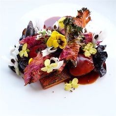 Closer look: vension, woodear, charred persimmon, kale, olive