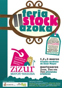 CARTEL II FERIA-STOCK 2013 #Zizur Mayor