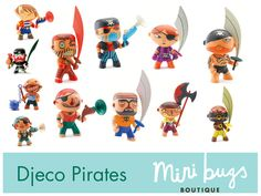 Pirates - Djeco Arty Toys Collection (selection of 3d Character, Character Design, Pirate Theme, Party Packs, Bowser, Cool Kids, Childrens Books, Action Figures, Toys