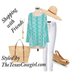 """Turquoise Tribal Shirt"" by thetexascowgirl on Polyvore"