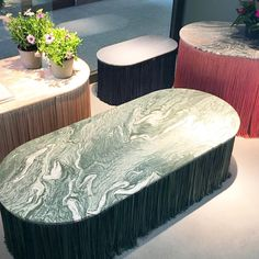 123 Likes, 7 Comments - Patty Hava Milan Design Week 2017, Design Trends 2018, Cristina Celestino, Outdoor Furniture, Outdoor Decor, Ottoman, Marble, Interiors, Texture