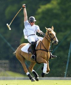 Prince Harry is nursing a back injury after falling from his horse during a game of polo in Ascot yesterday.