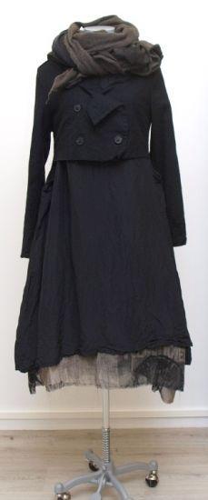 rundholz - Kurzjacke Wool Cotton Mix black - Winter 2015