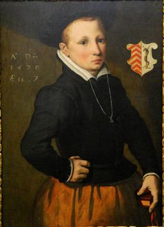 Pieter Pietersz, Portrait of a seven year old out of the house Tedingh, 1570
