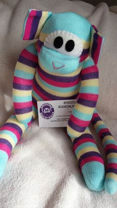 Sock monkey.  Handmade by www.facebook.com/snugglysockimals