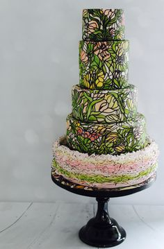 ART you can EAT! Stained glass cake by Nichola Ferron of The Black Rose Bakery