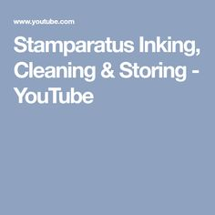 Stamparatus Inking, Cleaning & Storing - YouTube
