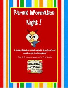Parent Night Teacher Toolbox- great resource for your first back to school night! $