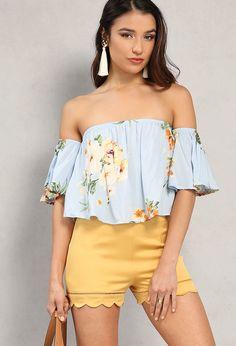 Floral Print Off-The-Shoulder Top Shoulder Sleeve, Off Shoulder Blouse, Off The Shoulder, Papaya Clothing, Summer Of Love, Girl Power, Latest Trends, Floral Prints, Topshop
