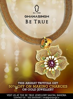 Akshay Tritiyaaa  - the day when anything and everything turns auspicious. Including our exclusive offer.