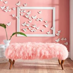 decor ideas Does our bold, exclusive Scarlett Bench and Mongolian Sheep Fur Cover give you some exciting décor ideas? this is a sheep of a different color in the world of room accents. So go ahead, try something new. Girl Room, My Room, Girls Bedroom, Bedrooms, Diy Wall Decor, Diy Home Decor, Wall Decorations, Unique Wall Decor, Wall Decoration With Paper