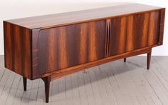 Danish Bernhard Pedersen & Son Rosewood Credenza or Sideboard, 1960 | From a unique collection of antique and modern credenzas at https://www.1stdibs.com/furniture/storage-case-pieces/credenzas/