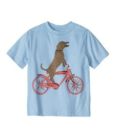 Another great find on #zulily! Blue Star Dog on a Bike Tee - Infant, Toddler & Boys #zulilyfinds