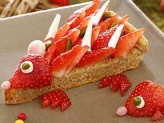 La tarte Kiri hérisson, une tarte vraiment adorable :D #kiri #recette #food #art #cute #fun #food #tarte #fraise #herisson #hedgehog #miam #yummy