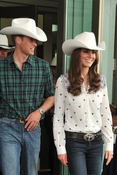 9d9baba5cd Prince William debuted a rodeo chic look in July 2011 while in Calgary with  wife Kate Middleton.