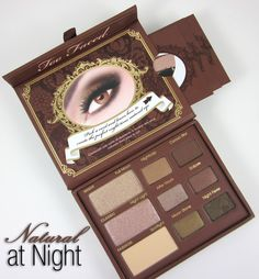 Natural at night by two faced. Just fabulous. Can build up or blend down any eye look. Also great alone.