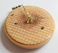 What a wonderful idea... embroider a clock face!