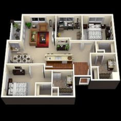 Well-Designed 3D House Plan Design Ideas https://www.futuristarchitecture.com/23493-3d-house-plan.html
